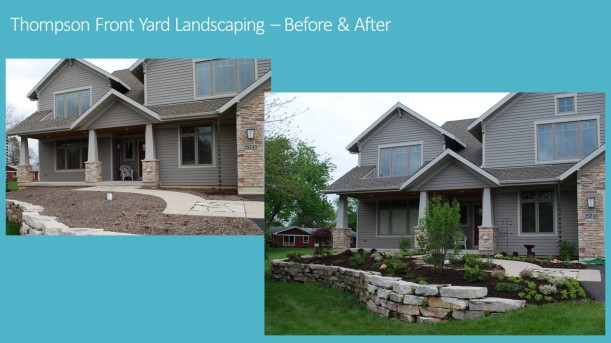 DWN Thompson Front Yard Landscaping before and after flyer 5-20-16 pg. 1