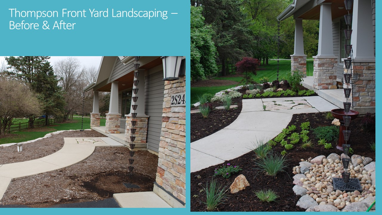 DWN Thompson Front Yard Landscaping Before And After Flyer 5 20 16 Pg