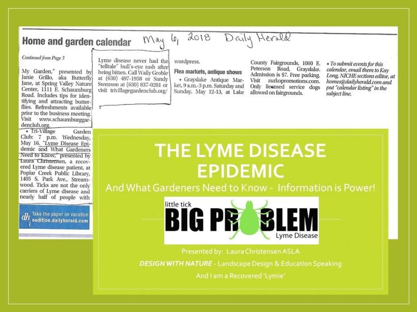 dwn blog lyme talk at streamwood library slide for blog to post on my blog may 6, 2018