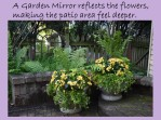 DWN my yd may 2018 mirror and yellow begonia pots