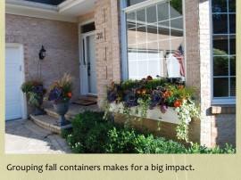 faris fall urns and window box