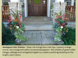 mcbride fall urns in red, orange and yellow